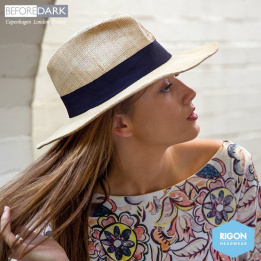 Chapeau Traveller Signature Paille Raffia Naturel - Rigon Headwear