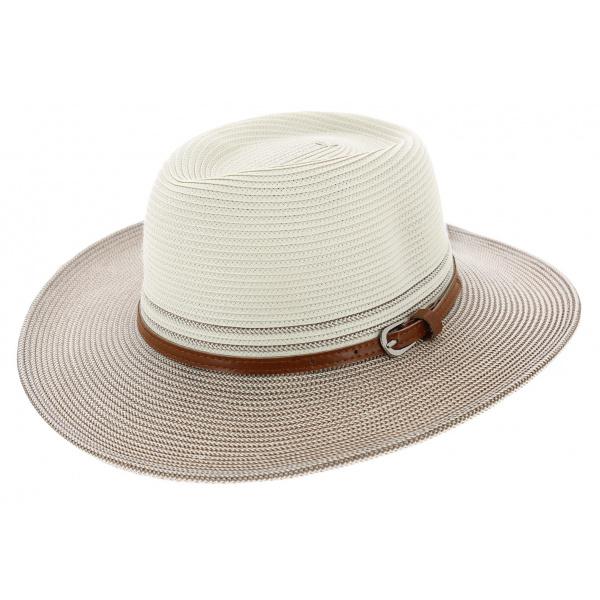 Chapeau Traveller Héritage Bicolore Blanc / Bronze - Rigon Headwear