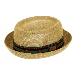 Chapeau PorkPie Don Gringo Paille Papier Naturel - Herman Headwear