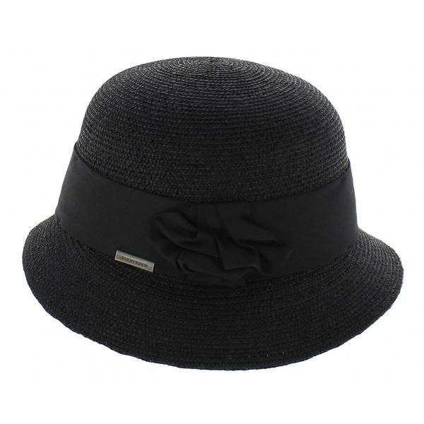 Chapeau cloche paille Winona - Charbon