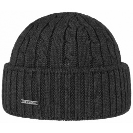 Bonnet Court Northport Tricot Laine Anthracite - Stetson