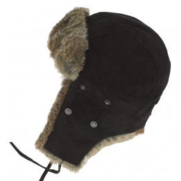 Chapka Winterfall Cuir & Lapin Noir - Stetson