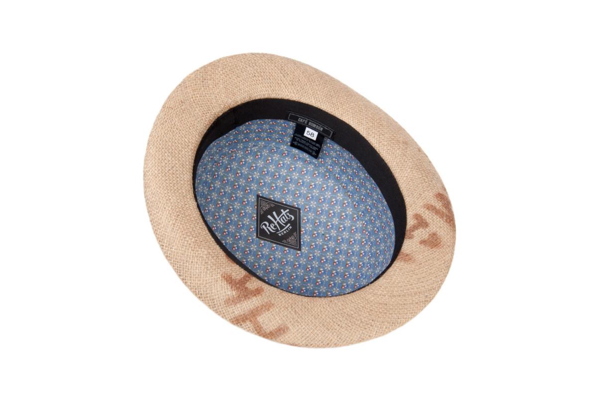casquette plate espresso toile de jute beige rehats chapeau traclet. Black Bedroom Furniture Sets. Home Design Ideas