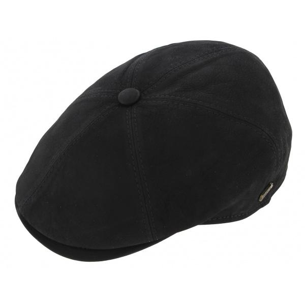 Casquette cuir noir