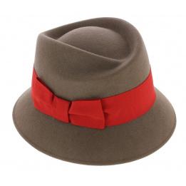 Chapeau Cloche Mérano Feutre Laine Taupe - Traclet