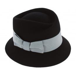 Chapeau Cloche Mérano Feutre Laine Noir - Traclet