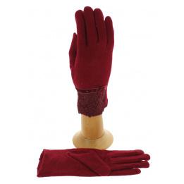 Gants Tactiles Femme Laine Rouge  - Traclet