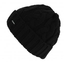 Bonnet Tricot Brome Laine Noir - Eisbär