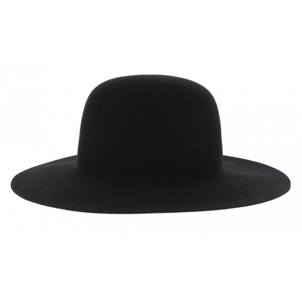 Chapeau marc veyrat enfant feutre laine noir traclet for Cuisinier chapeau noir