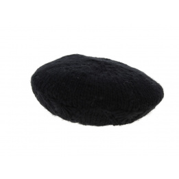 Beret tricot noir