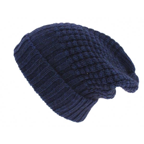 Bonnet Long Bellevarde Laine & Mohair Bleu - Traclet