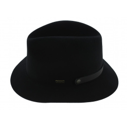 Chapeau Traveller The Atlas Pliable Feutre Laine Noir - Coal