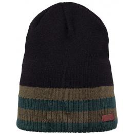 Bonnet Long Struan Acrylique Tricolore Noir - Barts