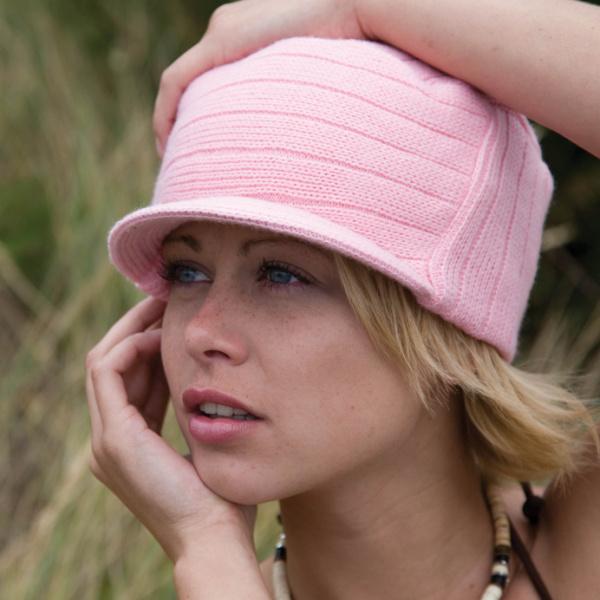 Bonnet casquette Tribe rose