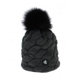 Bonnet Basic Megeve Mont Blanc noir Traclet