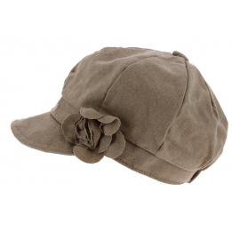 Casquette Gavroche Dahlia Laine Beige - Traclet
