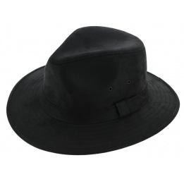 Chapeau Traveller Creek Style Cuir Noir - Aussie Apparel