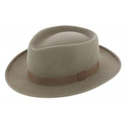 Chapeau Style Auvergnat Feutre Laine Beige - Traclet