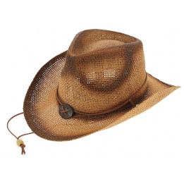 Chapeau Cowboy Fighter Harrison Paille Papier - Traclet