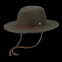 Chapeau Traveller The Wayfarer Coton Olive - Coal