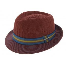 Hat Angleton Raphia Stetson red