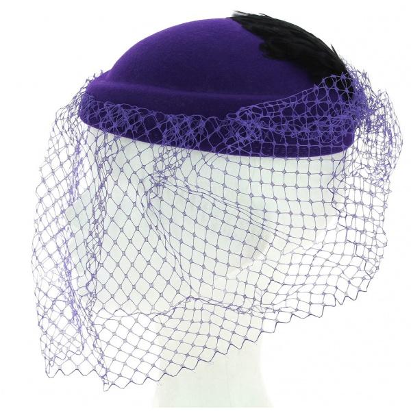 Chapeau Forme Amandine violet Made in France
