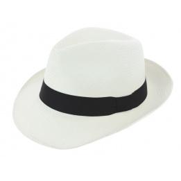 Chapeau Fédora Classico Panama Blanchi - Traclet