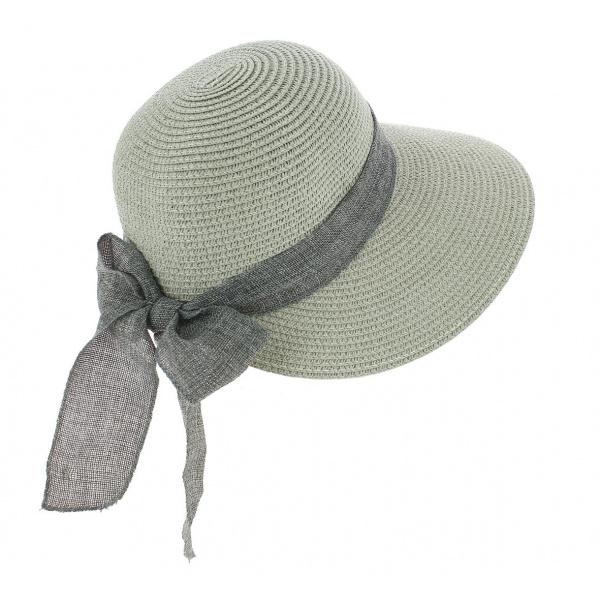 Chapeau De Soleil Cara Paille Papier Gris - Traclet