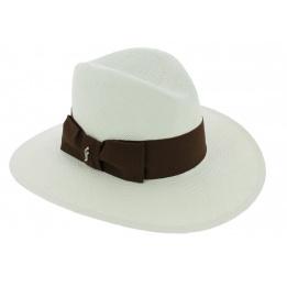 Chapeau Traveller Bayano Panama Blanc - Fléchet