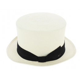 Chapeau Haut de Forme Almirante Panama Blanc - Fléchet