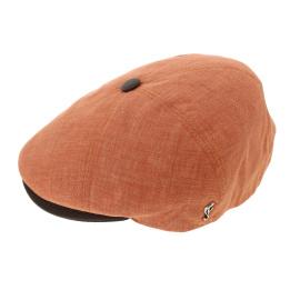 Casquette Plate Pumpkin Lin Orange - Fléchet