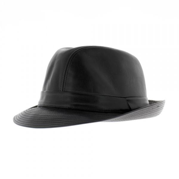 chapeau cuir style blue 39 s brothers chapeau cuir trilby achat chapeau cuir. Black Bedroom Furniture Sets. Home Design Ideas