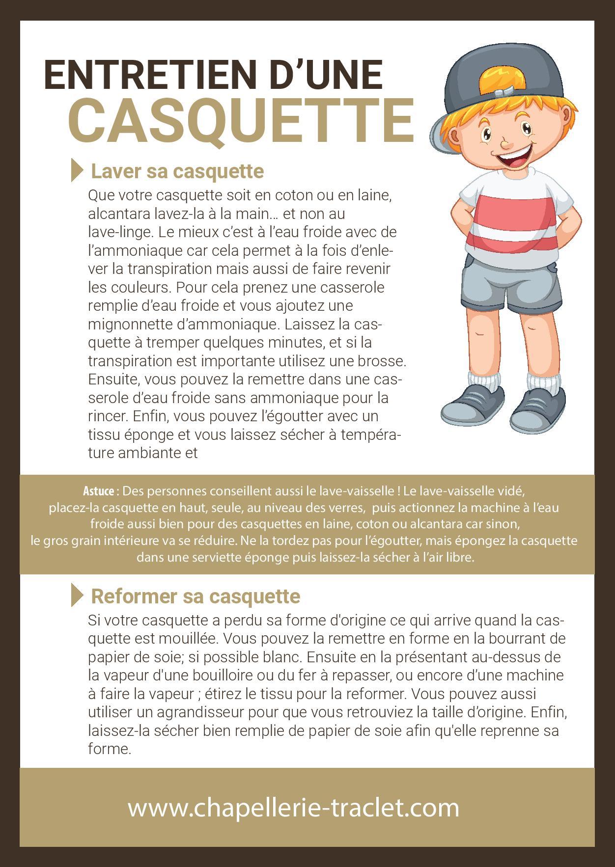 Casquette Nettoyage Et Entretien