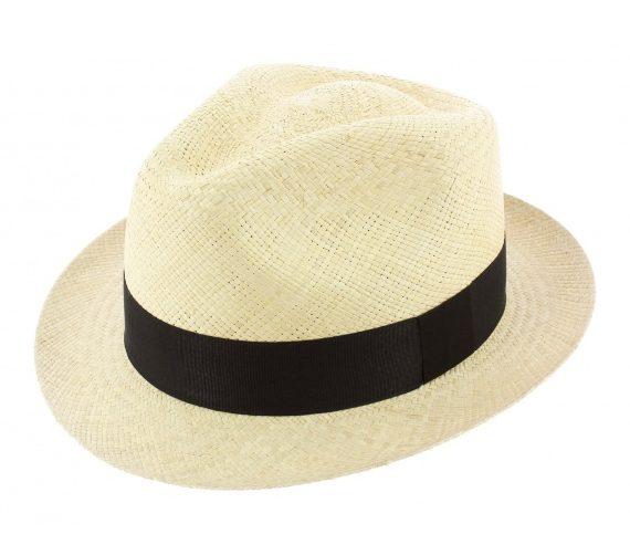 Chapeau panama naturel colba forme trilby sur la boutique en ligne traclet